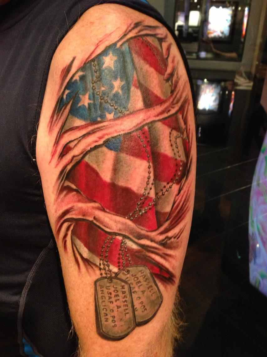 Fullsleeve military tattoo design of tattoosdesign of for Army infantry tattoos