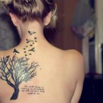 girl quote tattoo design