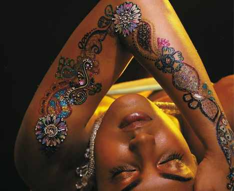 sexy glitter tattoo design