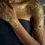 golden glitter tattoo design