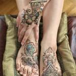gorgeous glitter tattoo design