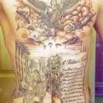 gorgeous military tattoo design