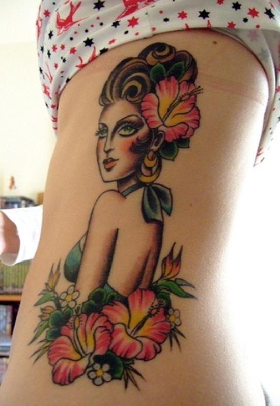 Hawaiian Girl Tattoo