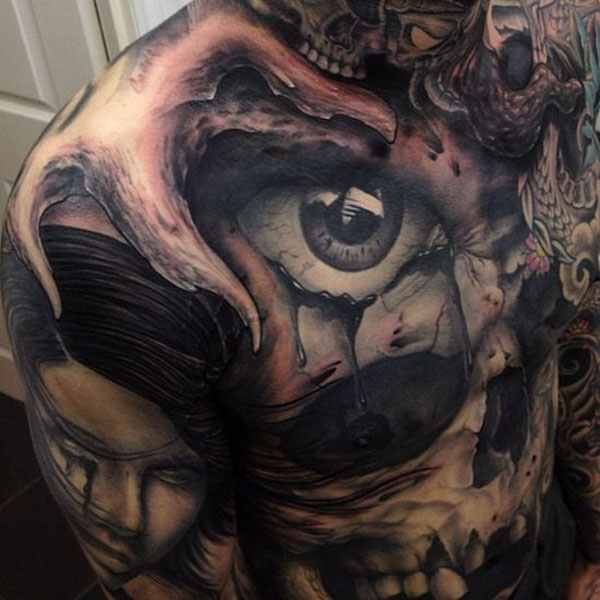 3D tattoo by john anderton
