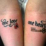 key and heart lock tattoo design