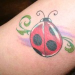 large ladybug tattoo design