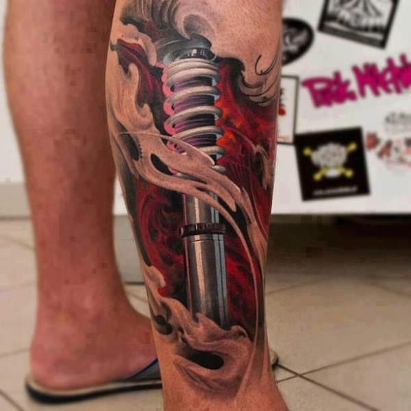 3d Tattoo Design On Leg Design Of Tattoosdesign Of Tattoos