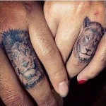 lion wedding ring tattoo design