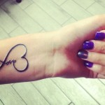 love tattoo design on hand