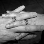 love wedding ring tattoo design