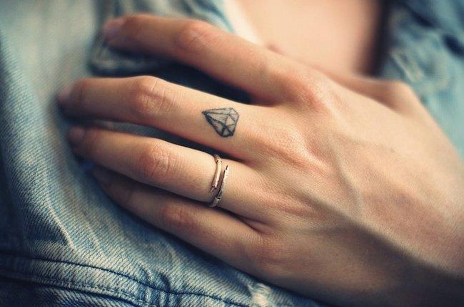 minimalist tattoo design on finger