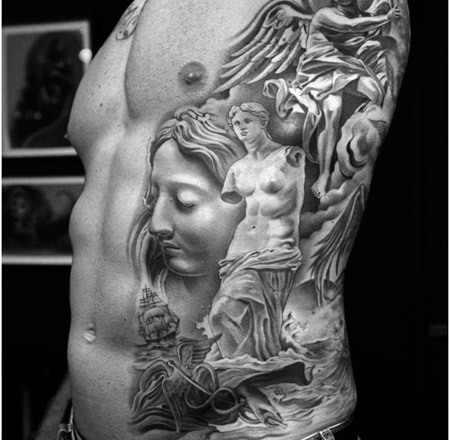 Mural Greek Tattoo Design Design Of Tattoosdesign Of Tattoos