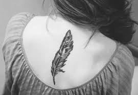 owl feather tattoo design