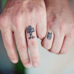 owl wedding ring tattoo design