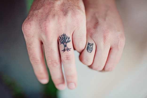 owl wedding ring tattoo Design of TattoosDesign of Tattoos