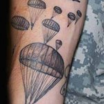 parachute military tattoo design