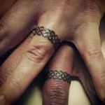 wedding ring tattoo symbolical design