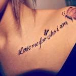 personality love tattoo design