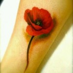 poppy tattoo cute design