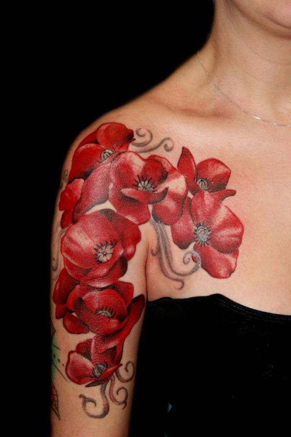 Halfsleeve poppy tattoo design of tattoosdesign of tattoos halfsleeve poppy tattoo mightylinksfo