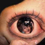 realistic eye 3D tattoo design