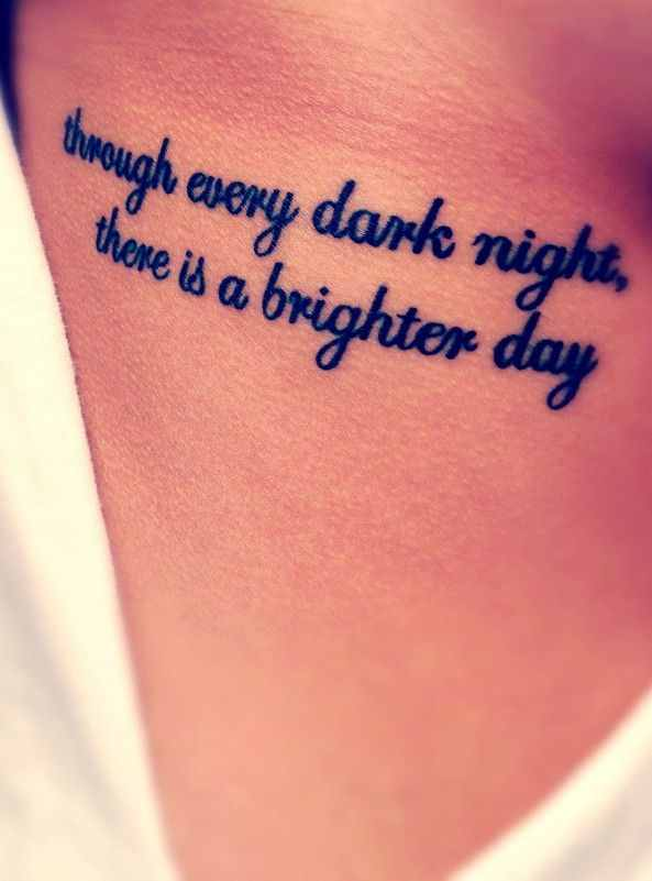 Quotes About Tattoos rib quote tatto...