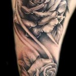 arm rose tattoo