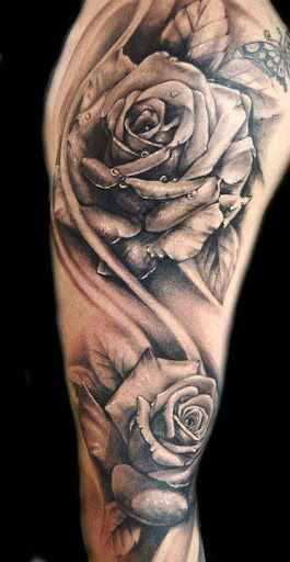 rose tattoo on arm design of tattoosdesign of tattoos. Black Bedroom Furniture Sets. Home Design Ideas