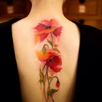 poppy tattoo sexy design