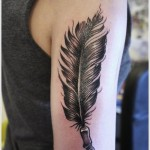 significant feather tattoo design
