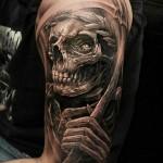 skull 3D tattoo