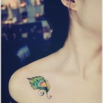 small feather tattoo design