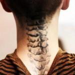men spine tattoo design