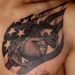 strong military tattoo design