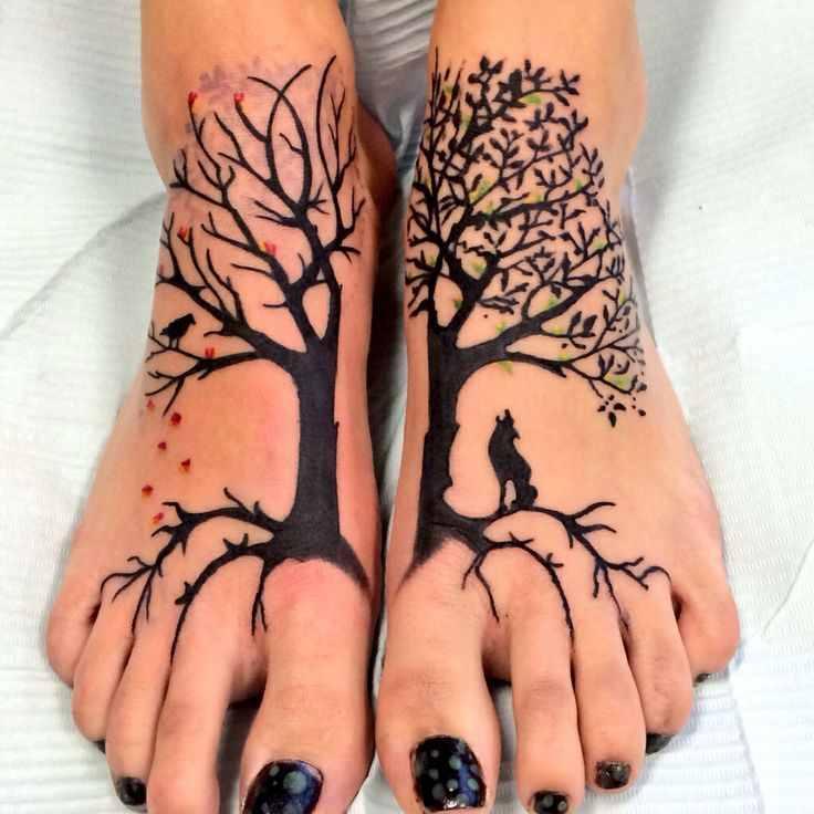 Tree Of Life Tattoo On Foot Design Of Tattoosdesign Of Tattoos