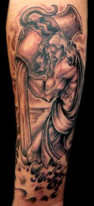 water bearer acquarius tattoo design