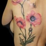 wholeback poppy tattoo design