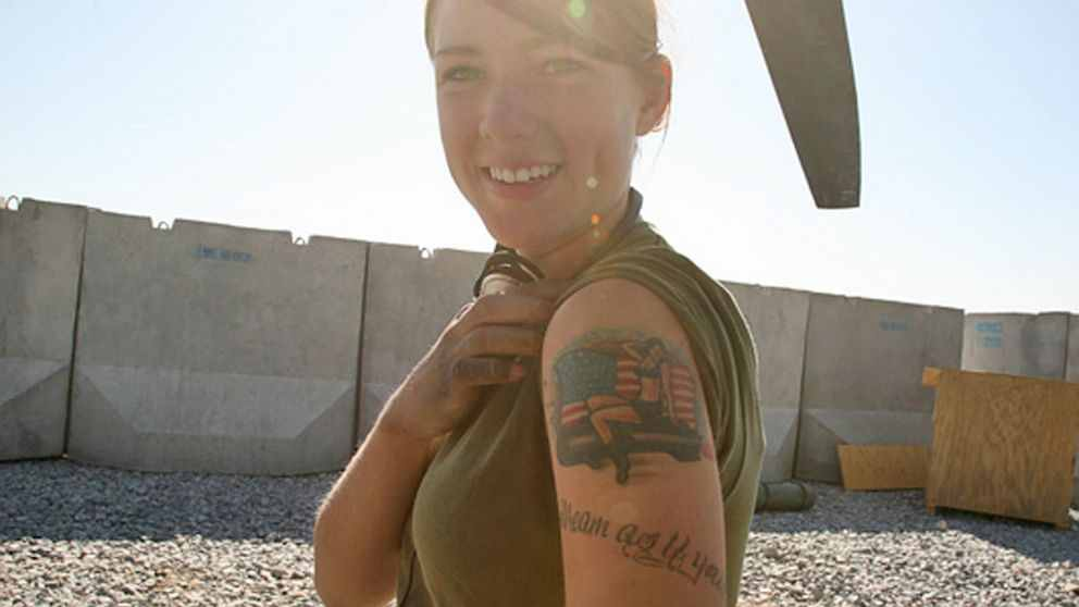 women military tattoo design