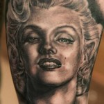 Andy Engel Marilyn Monroe portrait tattoo