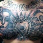Carlos Torres amazing chest tattoo