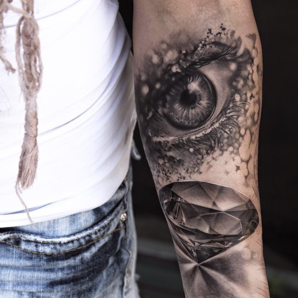 Amazing eye tattoo by niki norberg design of for Eye tattoos designs