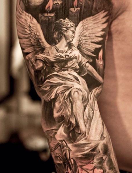 angel tattoo designed by niki norberg design of tattoosdesign of tattoos. Black Bedroom Furniture Sets. Home Design Ideas
