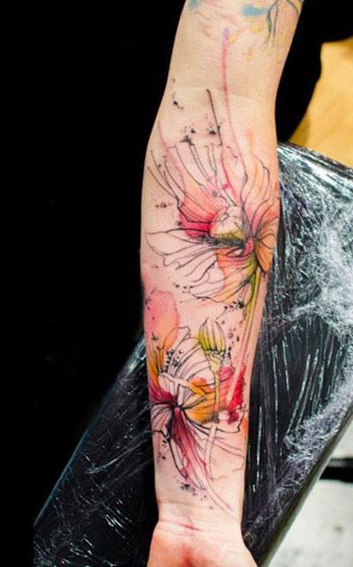 artistic flower tattoo by klaim design of tattoosdesign of tattoos