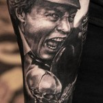 Portrait tattoo designed by Andy Engel