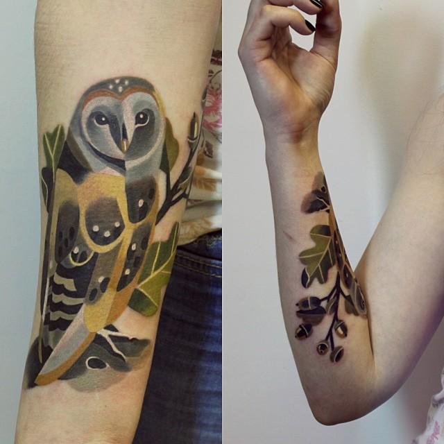 Tattoo Designs Unisex: Barnowl Tattoo By Sasha Unisex