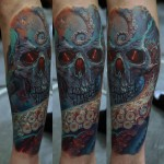 Dmitriy Samohin beautifully designed full sleeve tattoo