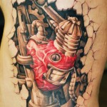David Klvac biomechanical heart tattoo