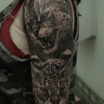 Dmitriy Samohin black full sleeve tattoo design