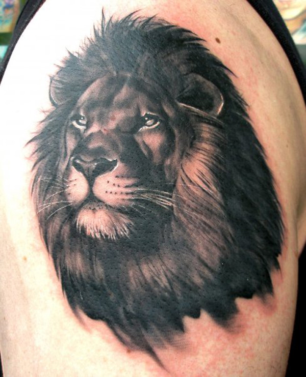 Black lion tattoo design of tattoosdesign of tattoos for Black and white lion tattoo