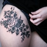 Alice Carrier black rose tattoo